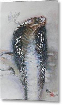 Snake Metal Print by Alan Kirkland-Roath