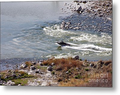 406p Snake River Boating Metal Print