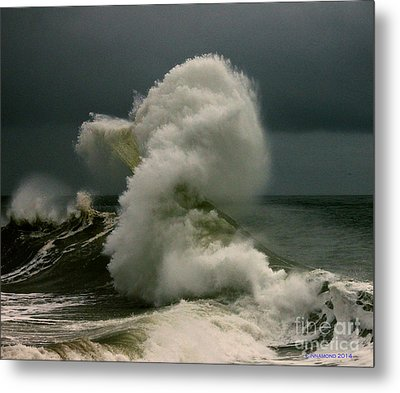 Snake Wave Metal Print by Michael Cinnamond