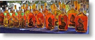 Snake Whiskey Metal Print