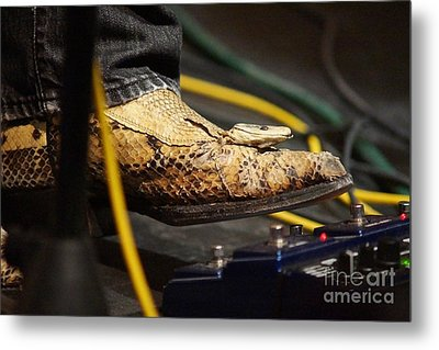 Snakeskin Boot Metal Print by Lynda Dawson-Youngclaus