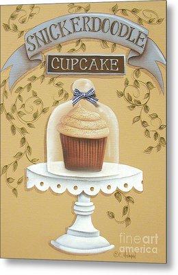 Snickerdoodle Cupcake Metal Print by Catherine Holman