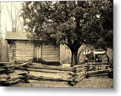 Snodgrass Cabin And Cannon Metal Print