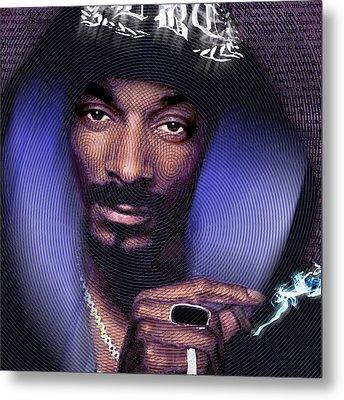 Snoop And Lyrics Metal Print