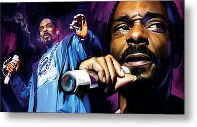Snoop Dogg Artwork Metal Print by Sheraz A