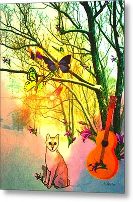 Metal Print featuring the digital art Snow And Butterfly Dreams by Mary Anne Ritchie