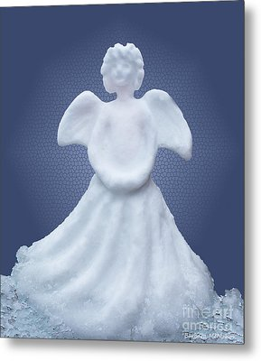 Snow Angel Metal Print by Barbara McMahon