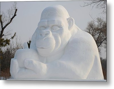 Snow Ape Metal Print by Brett Geyer