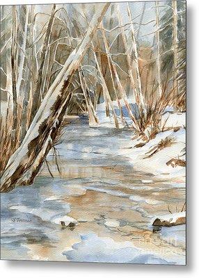 Snow At Cameron Creek Metal Print