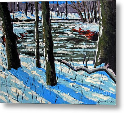 Snow Back On The Eel Metal Print by Charlie Spear