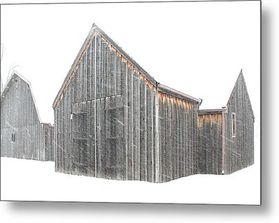 Metal Print featuring the photograph Snow Barns by Christopher McKenzie