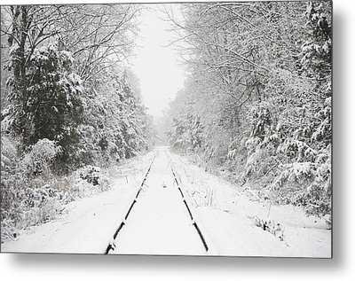 Snow Bound Metal Print by Nancy Edwards