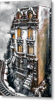 Snow Capped Brownstone Metal Print by Jill Balsam