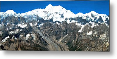 Snow Capped Canyon Metal Print