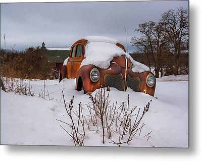 Snow Covered De Soto Metal Print