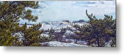Metal Print featuring the photograph Snow Covered Dunes Photo Art by Constantine Gregory