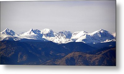 Snow Covered Indian Peaks Metal Print