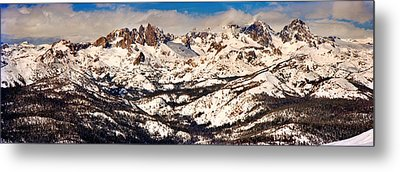 Snow Covered Landscape, Mammoth Lakes Metal Print by Panoramic Images
