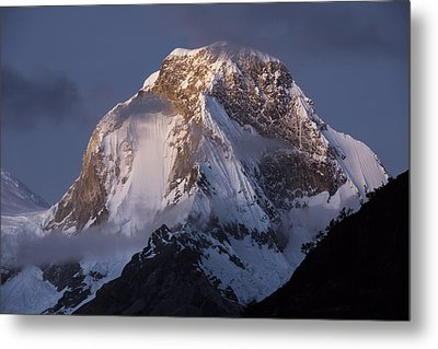 Snow-covered Peaks Huscaran Mountain Metal Print by Cyril Ruoso
