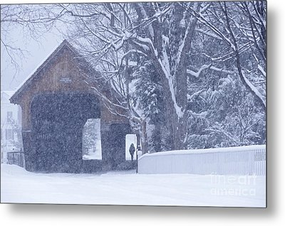 Metal Print featuring the photograph Snow Day by Alan L Graham