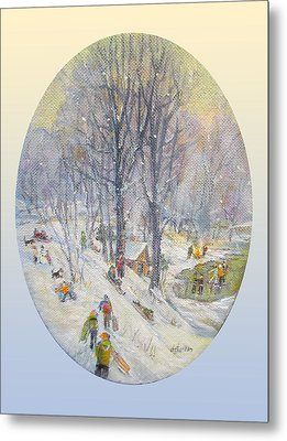 Metal Print featuring the painting Snow Day by Donna Tucker
