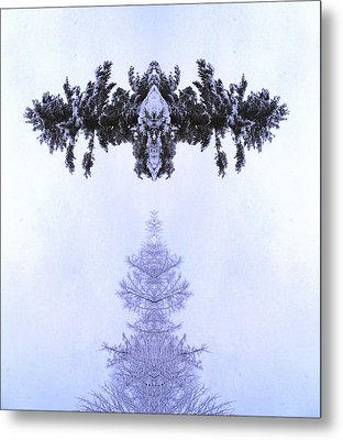 Snow Delivery Metal Print