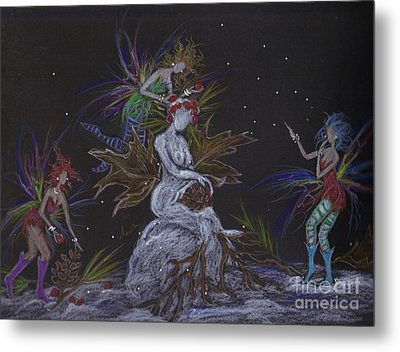 Snow Dryad Metal Print by Dawn Fairies