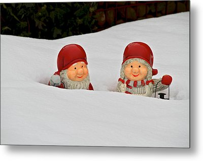 Snow Gnomes Metal Print by Odd Jeppesen