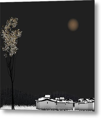 Snow Metal Print by GuoJun Pan