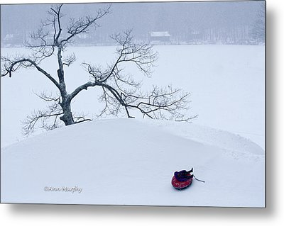 Metal Print featuring the photograph Snow Hill Ride by Ann Murphy