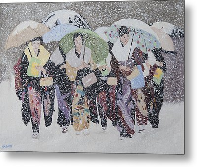 Snow Holiday Metal Print