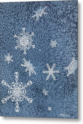 Metal Print featuring the painting Snow Jewels by Margaret Bobb
