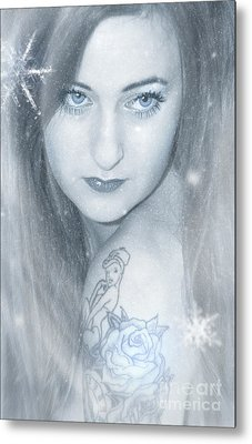 Snow Lady Metal Print by Svetlana Sewell