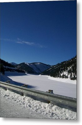 Metal Print featuring the photograph Snow Lake by Jewel Hengen