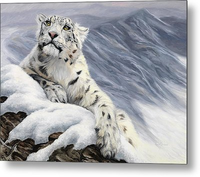 Snow Leopard Metal Print by Lucie Bilodeau