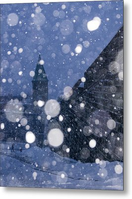 Snow On Old Quebec City Metal Print by Arkady Kunysz