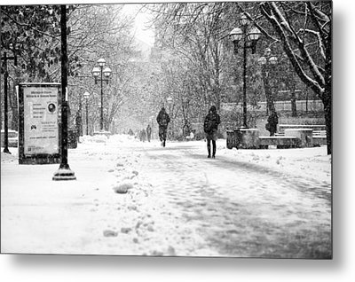 Snow On The 'diag' Metal Print by James Howe