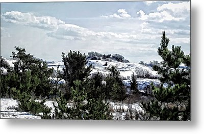 Metal Print featuring the photograph Snow On The Dunes Photo Art by Constantine Gregory