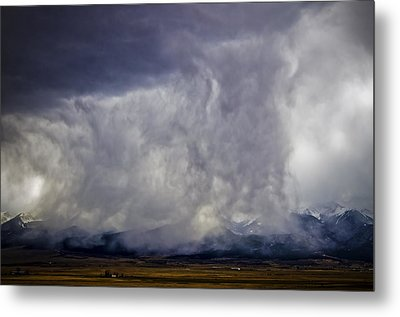 Snow On The Rockies Metal Print