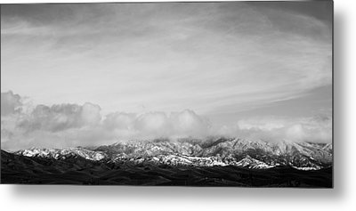 Snow On The Tehachapis Metal Print by Rich Collins