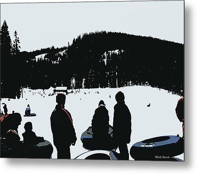 Metal Print featuring the photograph Snow Park Fun  by Mindy Bench