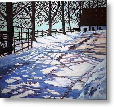 Snow Pattern Metal Print by Betty M M   Wong