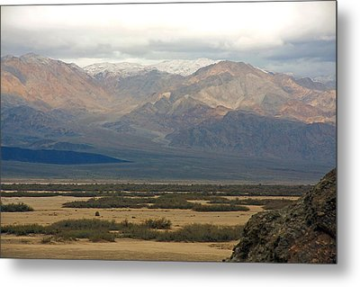 Metal Print featuring the photograph Snow Peaks by Stuart Litoff
