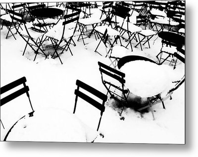 Snow Picnic Metal Print by Diana Angstadt