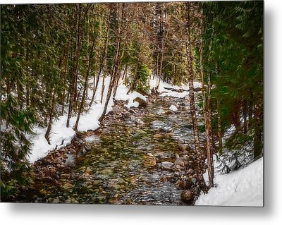 Snow River Metal Print