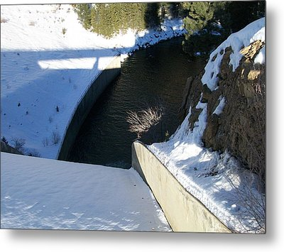 Metal Print featuring the photograph Snow Slide by Jewel Hengen