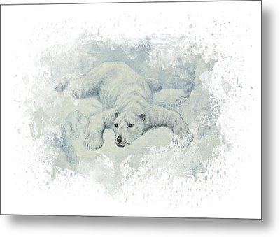 Snow Storm Metal Print by Aged Pixel