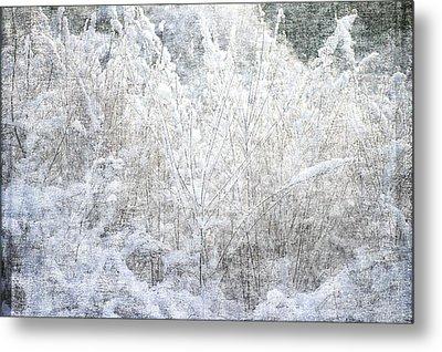 Snow Textures Metal Print