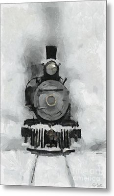 Snow Train Metal Print