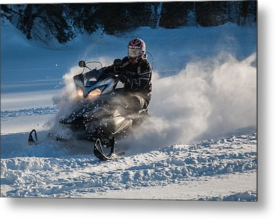 Snow Transport - 21st C Style Metal Print by Pat Speirs